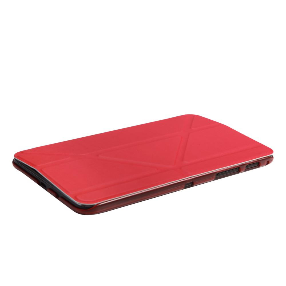 IT Baggage Hard Case чехол для Samsung Galaxy Tab A 7.0 SM-T285/SM-T280, RedITSSGTA7005-3Чехол IT Baggage - надежный защитник вашего планшета, ведь теперь ему не страшны царапины, потертости и даже последствия небольших падений. Удобный чехол из высококачественной искусственной кожи трансформируется в подставку для более удобного просмотра, например, видео, а его конструкция позволяет получить доступ ко всем разъемам и камере.