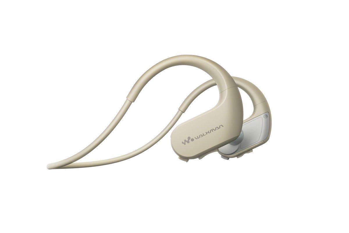 Sony NW-WS413 4Gb, White Gray MP3-плеер17060171Беспроводной плеер Sony NW-WS413 для занятий спортом, не только очень комфортен, но и надежен. Он сохраняет герметичность даже в соленой воде.Водо- и пыленепроницаемость корпуса плеера Sony NW-WS413 соответствуют стандартам IP65/IP68, поэтому он сохраняет полную функциональность даже будучи погруженным в соленую воду на глубину 2 м в течение 30 минут. Для использования плеера в воде необходимо также использовать вкладыши для плавания. Вас не остановит ни жара, ни холод. Sony NW-WS413 прекрасно работает практически в любых погодных условиях и при температуре от -5°C до 45°C.В корпус плеера слева и справа встроены микрофоны, которые позволяют вам слышать окружающие звуки, даже когда в наушниках играет музыка. Вы будете слышать все инструкции тренера и сможете спокойно общаться с друзьями.Благодаря своей уникальной гарнитурной конструкции Sony NW-WS413 позволяет вам забыть о надоедливых проводах и полностью сосредоточиться на тренировке.Оцените неограниченную свободу движений благодаря надежному опоясывающему оголовью наушников. Конструкция специально разработана для комфортного использования в любых условиях. Теперь вы можете бегать, прыгать и кувыркаться - наушники останутся на месте.Даже во время активной тренировки в бассейне у вас будет возможность переключать треки, настраивать громкость и выбирать нужный плейлист - все это благодаря встроенным органам управления на самой гарнитуре.До тренировки осталось совсем немного времени? После зарядки в течение 3 минут плеер Sony NW-WS413 будет работать целый час. При полной зарядке аккумулятора он может работать до 12 часов подряд.С плеером Sony NW-WS413 вы сможете пользоваться множеством музыкальных онлайн-сервисов. Просто перетащите MP3-файлы с iTunes, Windows Media Player или Internet Explorer и наслаждайтесь музыкой. Модель поддерживает множество форматов воспроизведения, в том числе WMA, AAC-LC и L-PCM.