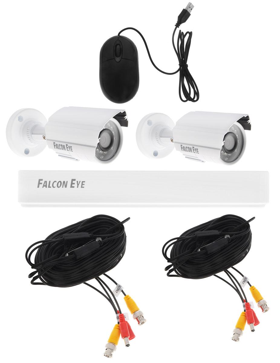 Falcon Eye FE-104AHD Kit Light комплект видеонаблюденияFE-104AHD KIT LightFalcon Eye FE-104AHD Kit Light - современный комплект видеонаблюдения, представляющий собой набор высококачественного оборудования для самостоятельного построения системы видеонаблюдения. Развернуть и настроить систему сможет даже не обладающий специальными знаниями человек. Технические характеристики комплекта, надежность и функциональность удовлетворяют самым строгим критериям оценки систем безопасности для дома офиса и дачи. Камеры с разрешением 1 Мпикс и сенсором Aptina AR0141 позволят записать сигнал с четкостью, достаточной для детального просмотра, а также для того, чтобы при необходимости использовать видеозапись, как доказательство противоправного действия. В видеорегистраторе воплощены все самые передовые технологии для систем видеонаблюдения: разрешение записи до 960H/720P/D1, возможность удаленного просмотра видео при помощи облачной технологии P2P на мобильных устройствах различных платформ. Резервное копирование: USB HDD, USB DVD-RW ...