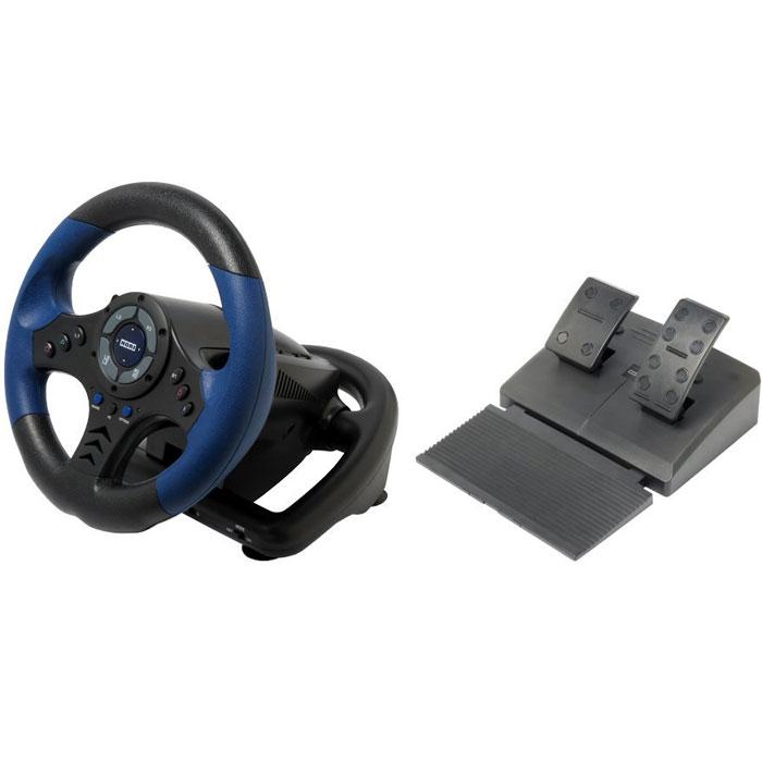 Hori Racing Wheel Controller руль для PlayStation 4PS4-020EHori Racing Wheel Controller отлично подойдет геймерам, увлекающимся играми на тему автогонок. Он выполнен из высококачественных материалов, не скользит в ладонях, чутко реагирует на движения рук владельца, а также обеспечивает полный контроль над виртуальным автомобилем. В комплект входят напольные педали, делающие игру более реалистичной, но для управления скоростью и газом разработчики также предусмотрели кнопки на руле. Устройство предназначено для использования с приставками PlayStation 3/4, а также имеет официальную лицензию компании Sony. Функция вибрации и обратной связи Подрульные лепестки переключения передач Программируемые кнопки Резиновое покрытие