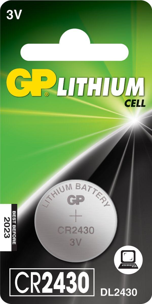 Батарейка литиевая GP Batteries, тип СR2430, 3В, 1 шт8237Литиевые элементы питания GP показывают великолепный результат в профессиональных приборах, а также в устройствах с высоким потреблением энергии. Они идеальны для медицинских приборов и отлично работают в экстремальных погодных условиях. * Лучшее решение для профессиональных и медицинских приборов * На 40% легче обычных батареек * Демонстрируют превосходный результат при экстремальных погодных условиях (от -40°C до 60°C) * Встроенная система защиты * Длительный срок хранения (10 лет)