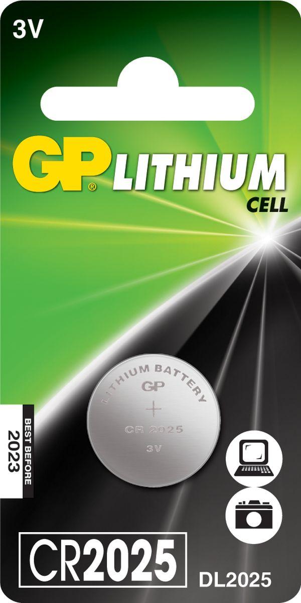 Батарейка литиевая GP Batteries, тип СR2025, 3В, 1 шт8608Литиевые элементы питания GP показывают великолепный результат в профессиональных приборах, а также в устройствах с высоким потреблением энергии. Они идеальны для медицинских приборов и отлично работают в экстремальных погодных условиях. * Лучшее решение для профессиональных и медицинских приборов * На 40% легче обычных батареек * Демонстрируют превосходный результат при экстремальных погодных условиях (от -40°C до 60°C) * Встроенная система защиты * Длительный срок хранения (10 лет)
