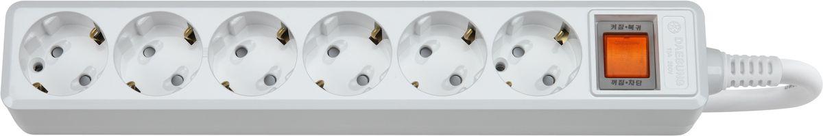 Сетевой фильтр Daesung, 6 гнезд, 2 м. MC2062MC2062-SPГлавный выключатель розеток (энергосбережение до 11%).Защита от импульсных скачков напряжения в сети и перенапряженияЗащита от перегреваЗащита от грозовых разядовЗащитные шторкиОтверстия для крепления на стену Корпус из поликарбоната (более ударопрочный, огнестойкий и экологичный материал)Антистатичная глянцевая поверхность (не маркий,не скапливается и легко удаляется пыль/грязь)Гибкий, мягкий кабель из чистой меди (тестируется на 10 000 изгибов)Направляющие канавки розеток (повышеный уровень комфортности при включении)контакты заземления из высококачественного сплава меди.5 лет гарантии(не ремонтируется), при поломке высылаете его Производителю (Представителю) и получаете взамен новый. Расходы по доставке производитель (Представитель) берёт на себя.При утере чека и гарантийного талона, датой отчета гарантийного срока является дата производства, которая указана на обратной стороне удлинителя/сетевого фильтра.