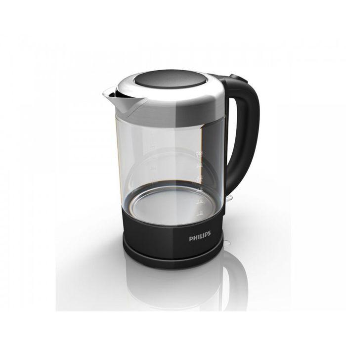 Philips Viva Collection HD 9340/90 электрочайникHD9340/90Первый чайник Philips из стекла и нержавеющей стали. Отличается повышенной прочностью и долговечностью. Индикация объема воды по чашкам позволяет вскипятить нужное количество воды, не расходуя излишне природные ресурсы. Фильтр от накипи обеспечивает чистоту воды и чайника. Катушка для удобного хранения шнура Шнур оборачивается вокруг основания, что позволяет легко разместить чайник на кухне. Когда чайник включен, загорается подсветка Элегантная подсветка кнопки включения/выключения уведомляет о процессе нагрева воды. Индикатор воды по чашкам позволяет вскипятить столько воды, сколько нужно Если вы кипятите ровно столько воды, сколько нужно, вы экономите энергию и воду, внося свой вклад в защиту окружающей среды. Беспроводная подставка с поворотом на 360° для удобства использования. Стекло SCHOTT DURAN (производится в Германии) идеально подходит для кипячения Корпус чайника выполнен из...