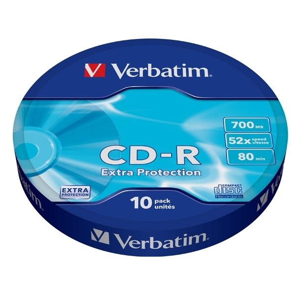 Диск CD-R Verbatim 700Mb 52x extra protect, 10 шт (43725)43725В дисках Verbatim CD-R/RW используется технология MKM/Verbatim, обеспечивающая непревзойденное качество записи. Тесное сотрудничество отдела исследований и разработок компании Mitsubishi Chemical с производителями дисководов обеспечивает широкую совместимость дисков Verbatim, что делает их идеальными носителями для передачи компьютерных данных, домашних видеофильмов, фотографий и музыки. От европейского лидера* в производстве записываемых носителей