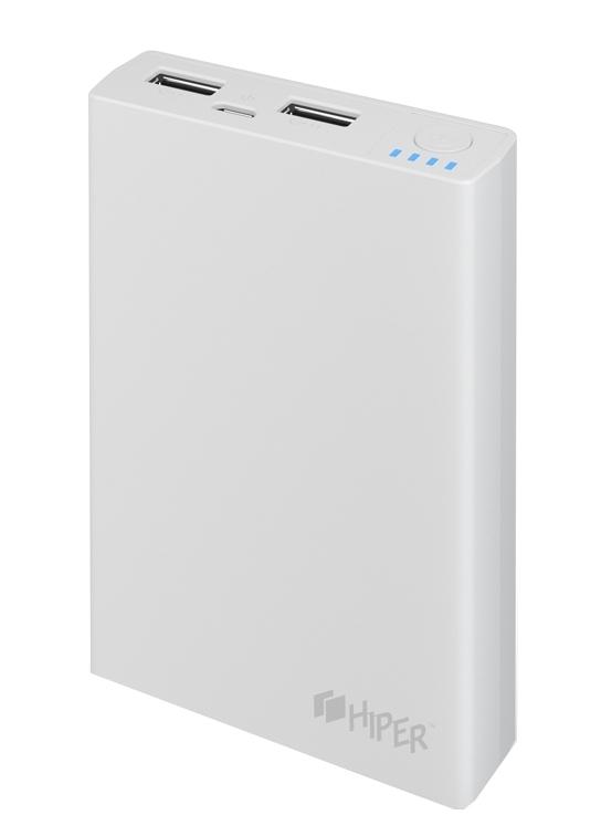 Внешний аккумулятор Hiper Power Bank RP10000, White (10000 мАч)