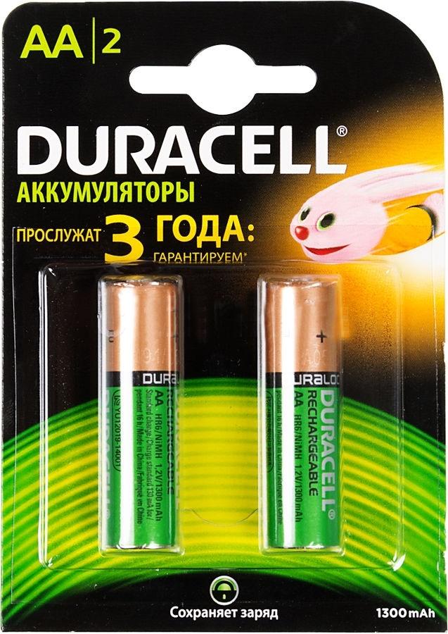Аккумулятор Duracell HR6-2BL AA NiMH 1300 мАч, 2 штHR6-2BLПерезаряжаемые аккумуляторы отлично подходящие для использования в приборах со средним энергопотреблением, например, таких как фото камеры, электронные игрушки, беспроводные мыши, клавиатуры и контроллеры.
