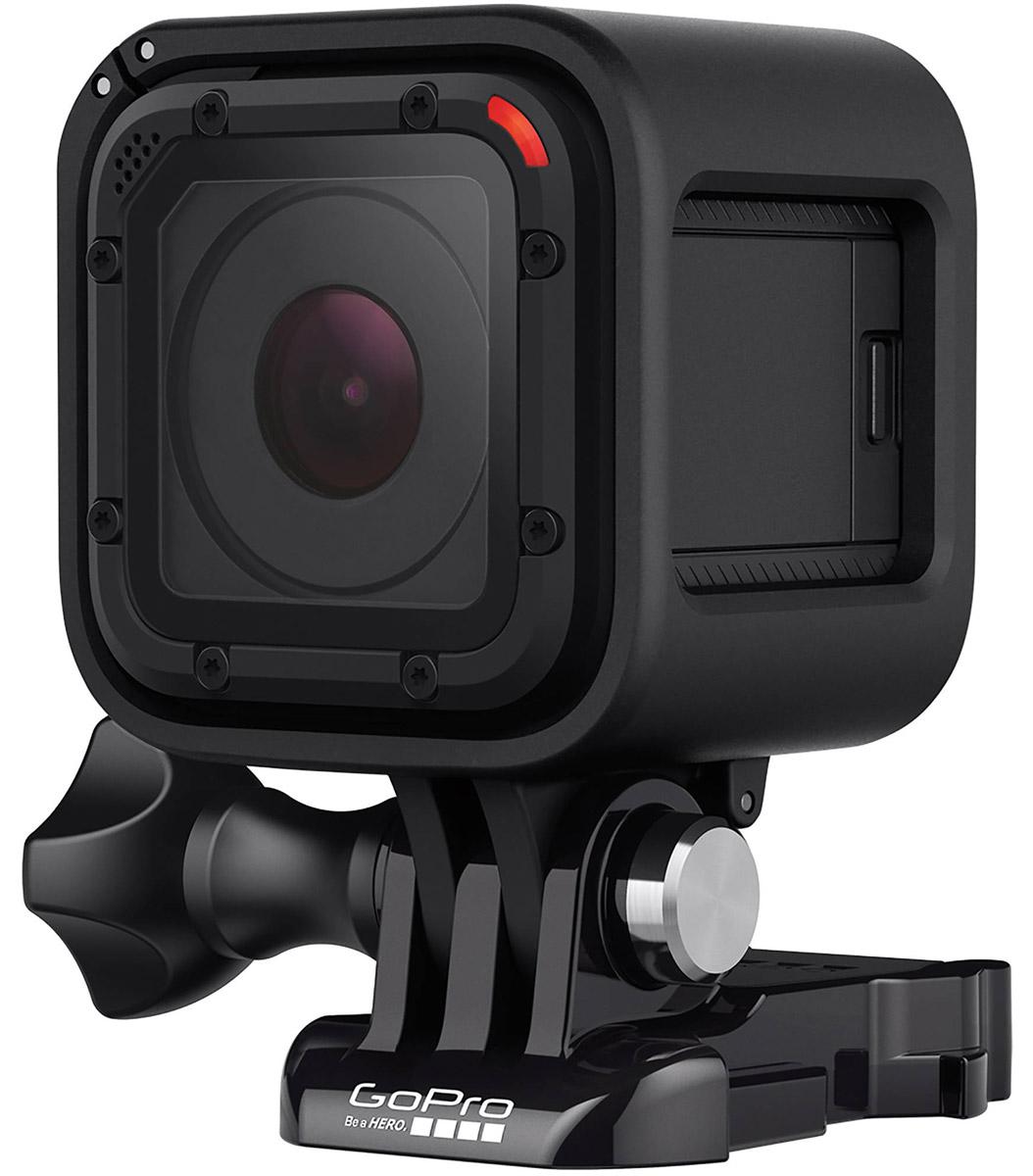 GoPro Hero Session, Black экшн-камераCHDHS-102GoPro Hero Session - самая маленькая и технически удобная экшн-камера для высококачественной видео и фотосъемки. Session не требует защитного бокса, так как сама по себе является водонепроницаемой и ударостойкой. Камера оснащена встроенным Wi-Fi и её легко можно подключить к пульту Wi-Fi Remote, а так же к смартфону, и управлять камерой дистанционно.Простое управление одной кнопкойОднократное нажатие кнопки включает камеру и начинает автоматически запись видео, серийной и покадровой фотосъемки.Модель не боится воды и рекомендована к использованию до 10 метров. GoPro Hero Session – это первая камера GoPro, которая не нуждается в отдельном водостойком боксе.Благодаря своим миниатюрным размерам, GoPro Hero Session совместима со всеми креплениями GoPro, даже с самыми компактными.Камера увеличивает время работы батареи даже в том случае, если камера находится в режиме записи. Когда вы останавливаете запись, камера выключается. Положитесь на GoPro Hero Session и без проблем планируйте фото- и видеосъемку на целый день. Получите два часа беспрерывной съемки при полной зарядке!Высокое разрешение 1440p30, 1080p60, и 720p100 обеспечивает четкое видео на профессиональном уровне. Запись с частотой от 60 до 100 к/сек для плавного воспроизведения.Выберите лучший кадр, используя различные режимы. Качество в 8 Mпикс для одиночных фотографий, установка режима Time Lapse с интервалом от 0,5 до 60 секунд, а также слайдер-съемка со скоростью 10 кадров в секунду.Один микрофон камеры встроен на передней панели, второй - на задней. Они созданы для того, чтобы автоматически распознавать и удалять посторонние звуки и шум ветра.Создавайте потрясающие видео-шедевры в самом захватывающем широкоугольном поле зрения с эксклюзивным GoPro-режимом SuperView.Пусть камера думает за вас. Автоматический режим Low Light разумно меняет частоту кадров на основе условий освещения, что позволяет перемещаться между яркими и темными сферами без необходимости настр