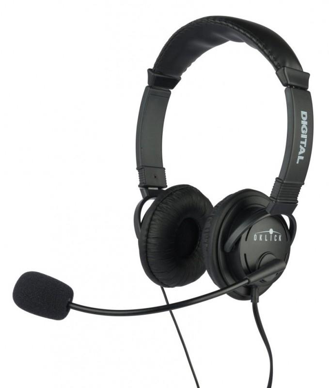 Наушники с микрофоном Oklick HS-M133V, Black614047Профессиональные стереонаушники с отличным качеством звука Регулируемое оголовье настраивается под голову и уши любых размеров и форм. Повышенное качество воспроизведения голоса и музыки. Гибкий держатель микрофона для выбора удобного расположения