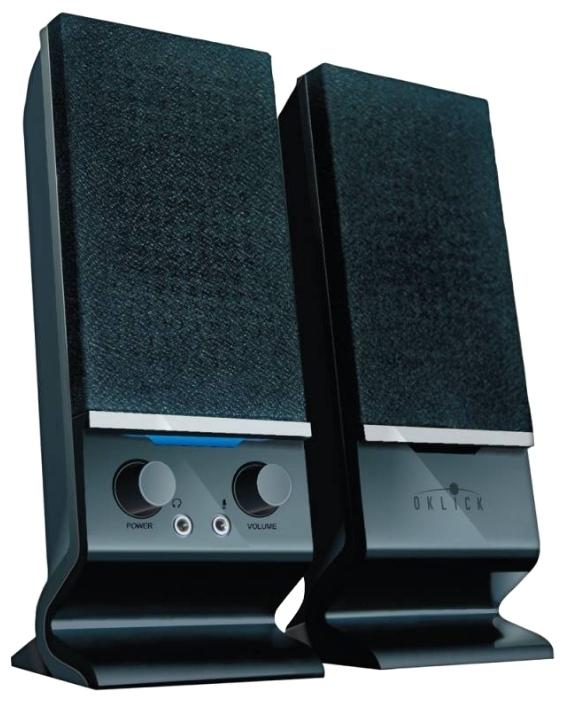 Акустическая система Oklick OK-115, Black315686Компактная акустическая система мощностью RMS 6 Вт. Каждая из колонок обладает декоративной светодиодной подсветкой синего цвета.