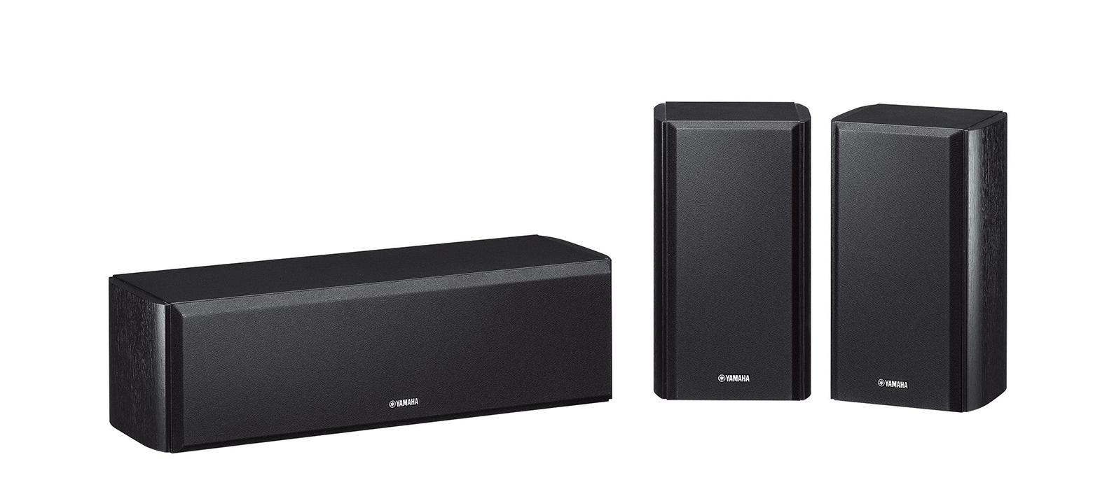Центральная и тыловые колонки Yamaha NS-P160, BlackANSP160BLКомплект из центральной АС и двух АС окружающего звучания обеспечивает высокое качество звука, характерное для акустики Yamaha. Колонки выполнены в закрытом корпусе, имеют 2-полосную конструкцию с одним (АС окружающего звучания) или двумя (АС центрального канала) коническими диффузорами 8 см и балансным куполом 1,4 см.