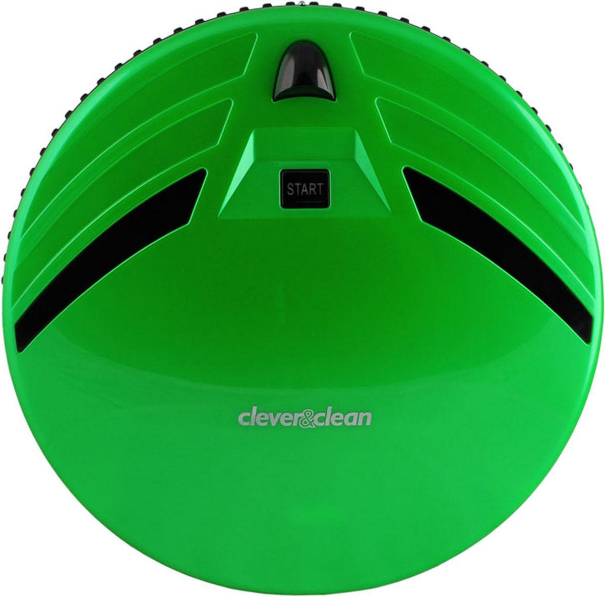 Clever&Clean Z-Series Z10A, Green робот-пылесосZ10 GreenРобот-пылесос С&С Z10A, предназначен для сухой уборки напольных покрытий: плитки, ламината, паркета, ковров с коротким ворсом, а также влажной протирки твердых поверхностей. Передняя часть робота оснащена сенсорами предотвращающими столкновение с мебелью и другими предметами интерьера, а также 80-ю датчиками распознающими соприкосновение – это позволяет снизить уровень шума во время уборки помещения и минимизировать физический контакт робота с мебелью. Удобный пульт управления работает на радио частотах, что позволяет управлять роботом-пылесосом практически из любой части квартиры (сигнал проходит сквозь стены). Также пульт оснащен информативным ЖК дисплеем и предоставляет возможность производить ручное управление роботом-пылесосом для вывода его в любое место в квартире.
