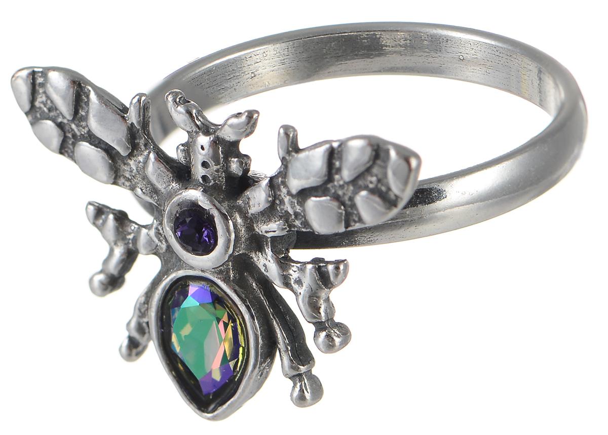 Кольцо Jenavi Мэй, цвет: серебряный, хамелеон. k3353053. Размер 18Коктейльное кольцоОригинальное кольцо Jenavi Мэй из коллекции Кассида, выполненное из ювелирного сплава с покрытием из черненого серебра, оформлено декоративным элементом в виде насекомого, который украшен стразами и кристаллом Swarovski.Красивое и необычное украшение блестяще подчеркнет ваш изысканный вкус и поможет внести разнообразие в привычный образ.