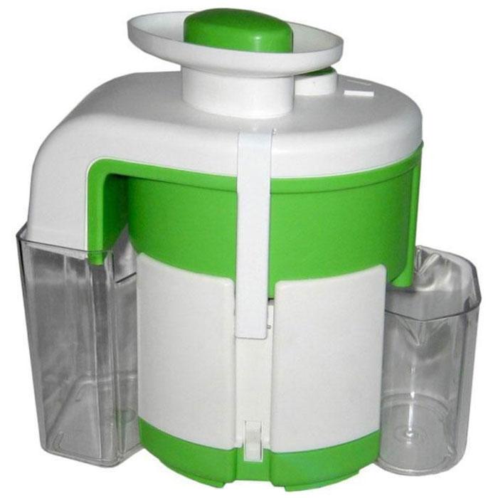 Журавинка СВСП 102 П, White Green соковыжималкаСК СВСП 102ПЖуравинка СВСП 102 П - персональная соковыжималка с ручным сбросом жмыха, который позволяет выжать весь сок до последней капли. Неограниченное время работы дает возможность отжимать любое количество сока за один раз. Простая сборка и уход. В данной ценовой категории модель находится вне конкуренции. Достаточно высокая производительность позволяет применять соковыжималку при сезонной заготовке сока, а сравнительно небольшие габариты и масса делают ее удобной и при ежедневном использовании. Производительность: 550 г/мин