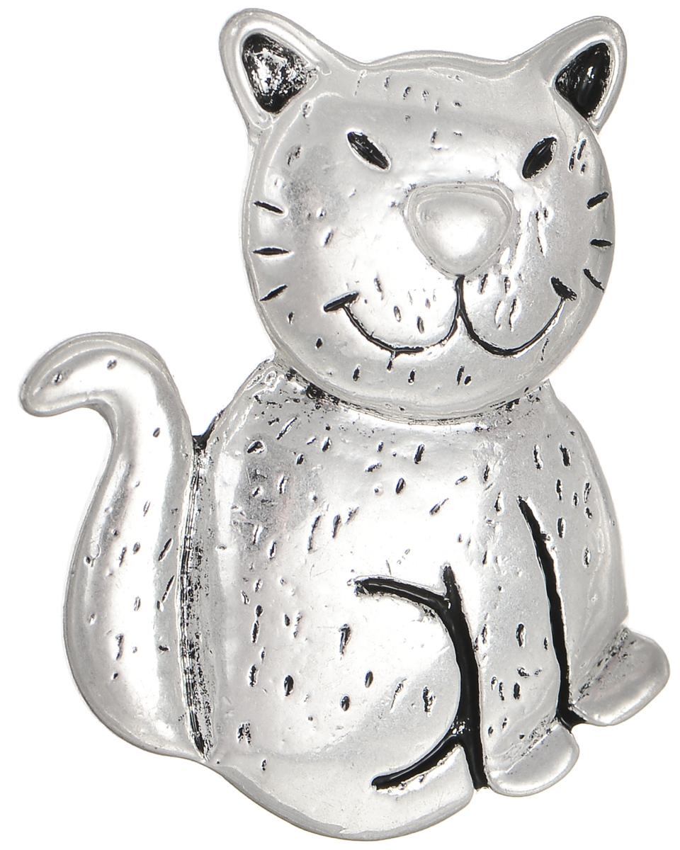 Брошь Selena Street Fashion, цвет: серебристый. 3002661030026610Оригинальная брошь Selena Street Fashion изготовлена из металла с родиевым покрытием. Брошь выполнена в виде кота. Изделие крепится с помощью замка-булавки. Такая брошь позволит вам с легкостью воплотить самую смелую фантазию и создать собственный неповторимый образ.