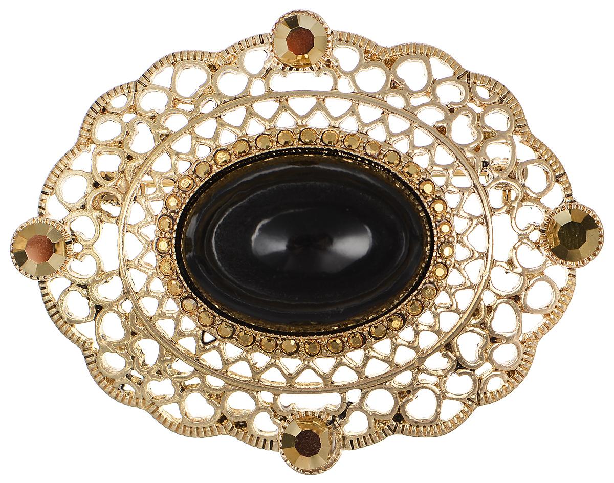 """Брошь Selena """"Street Fashion"""", цвет: золотистый, черный. 30026770 Selena Селена"""