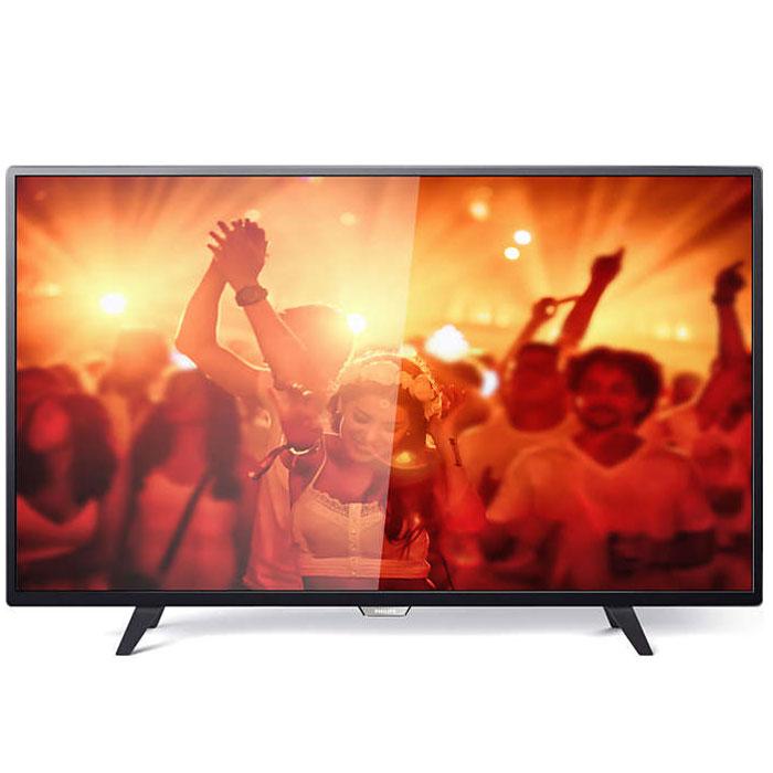 Philips 43PFT4001/60, Black телевизор43PFT4001/60Philips 43PFT4001/60 - сверхтонкий светодиодный Full HD LED-телевизор. Утонченные линии подчеркивают изящность дизайна Изящный, современный, лаконичный дизайн. Неудивительно, что ультратонкий силуэт телевизора Philips притягивает к себе взгляд - это идеальное решение, которое прекрасно дополнит любой интерьер. USB для воспроизведения мультимедийного контента Делитесь впечатлениями. Подключите USB-накопитель, цифровую камеру, MP3-плеер или другое мультимедийное устройство через USB-вход телевизора и смотрите фотографии, видео или слушайте музыку, используя удобного экранного обозревателя. Необычная, темная и невероятно надежная подставка. Прочная ультратонкая подставка Philips черного цвета подчеркивает элегантный дизайн телевизора. Несмотря на свой небольшой размер, она отличается непревзойденной устойчивостью. Технология Digital Crystal Clear, разработанная Philips, позволяет насладиться естественным изображением с...