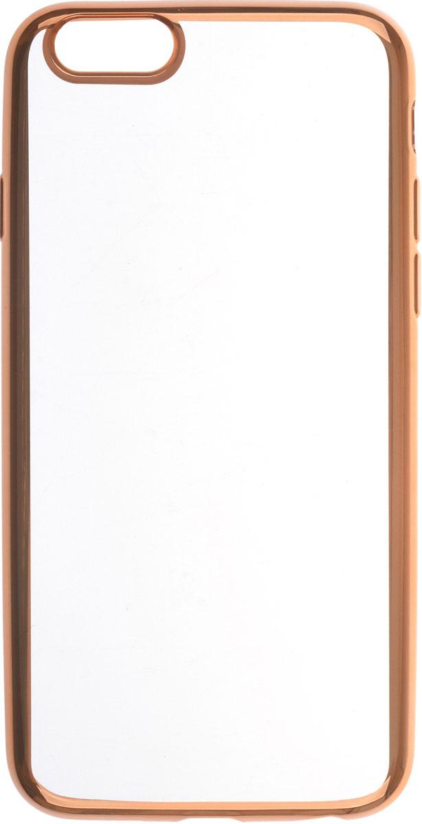 Skinbox 4People Silicone Chrome Border чехол для Apple iPhone 6/6s, Gold2000000089706Чехол-накладка Skinbox 4People Silicone Chrome Border для Apple iPhone 6/6s обеспечивает надежную защиту корпуса смартфона от механических повреждений и надолго сохраняет его привлекательный внешний вид. Накладка выполнена из высококачественного силикона, плотно прилегает и не скользит в руках. Чехол также обеспечивает свободный доступ ко всем разъемам и клавишам устройства.