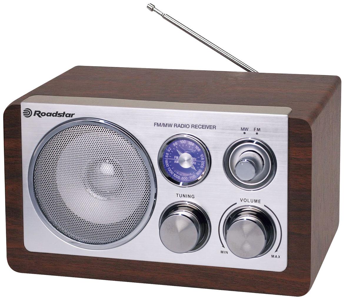 RoadStar HRA-1200N/WD, Wood, ретро-радиоприемник