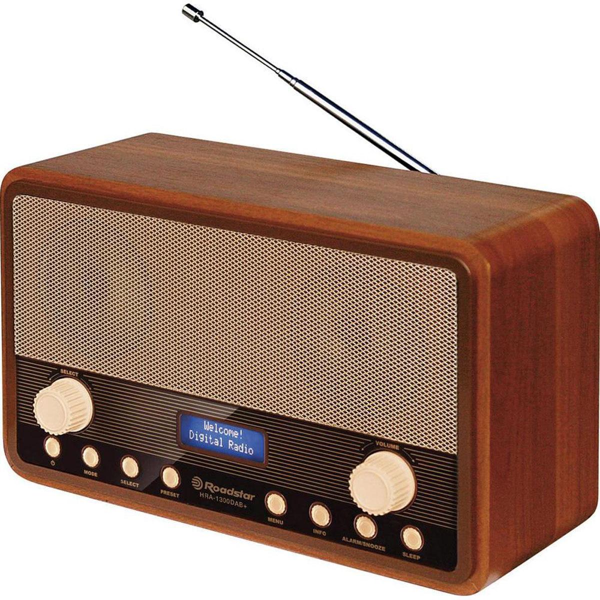 RoadStar HRA-1300DAB, Wood, ретро-радиоприемник
