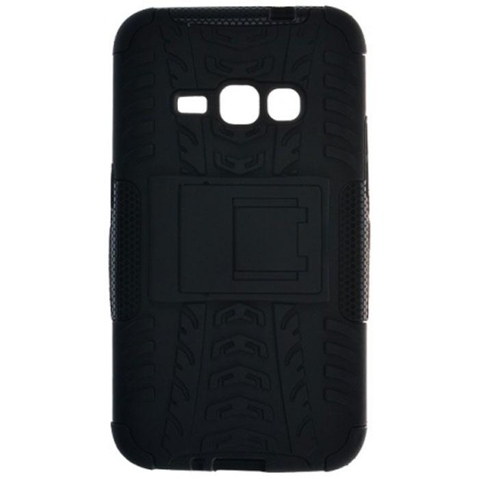 Skinbox Defender Case чехол-накладка для Samsung Galaxy J1 (2016)2000000091341Чехол-накладка Skinbox Defender Case для Samsung Galaxy J1 (2016) бережно и надежно защитит ваш смартфон от пыли, грязи, царапин и других повреждений. Выполнена из высококачественного поликарбоната, плотно прилегает и не скользит в руках. Чехол-накладка оставляет свободным доступ ко всем разъемам и кнопкам устройства.