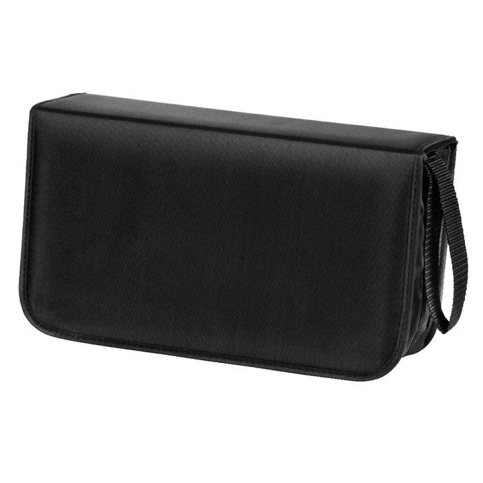 Hama H-33833 Nylon, Black сумка для CD (120 шт)33833Сумка для CD-дисков Hama H-33833 Nylon предназначена для хранения и переноски 120 компакт-дисков. Стильный аксессуар защитит диски от пыли и грязи, продлевая их срок службы. Hama H-33833 Nylon включает в себя 60 двухсторонних конвертов, имеет удобный ремешок для ношения и застегивается на молнию.
