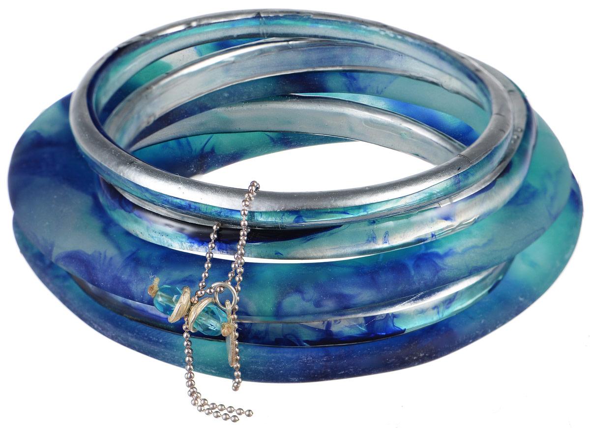 Браслет Lalo Treasures Transcend II, цвет: голубой. Bn2520-2Bn2520-2Яркое комбинированное украшение Lalo Treasures Transcend II включает пять оригинальных браслетов, изготовленных из ювелирной смолы. Стильное украшение поможет дополнить любой образ и привнести в него завершающий яркий штрих.