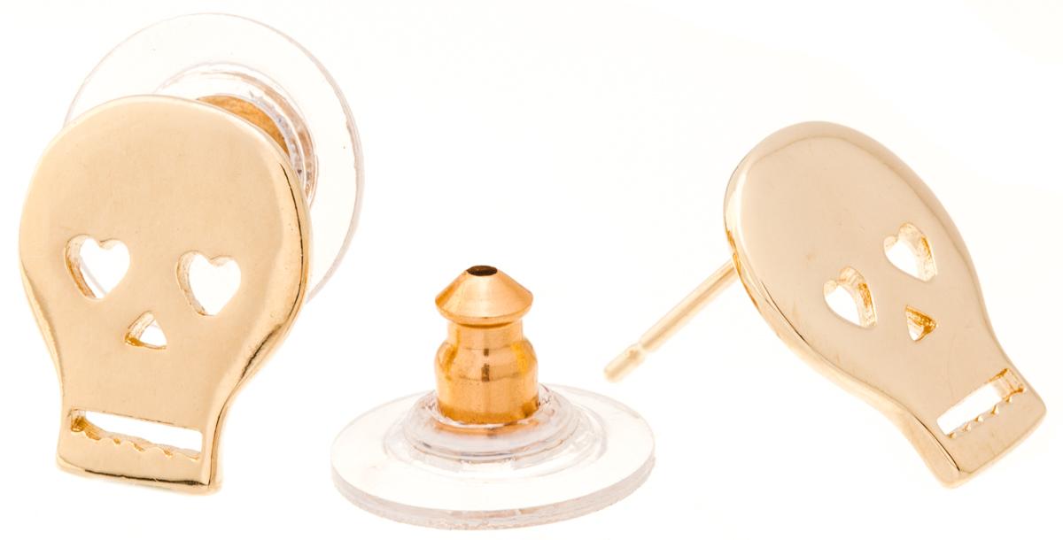 Jenavi, Коллекция Young 2, Грогги (Пуссеты), цвет - золотой,39859|Пуссеты (гвоздики)Коллекция Young 2, Грогги (Пуссеты) гипоаллергенный ювелирный сплав,Позолота, вставка без вставок, цвет - золотой,