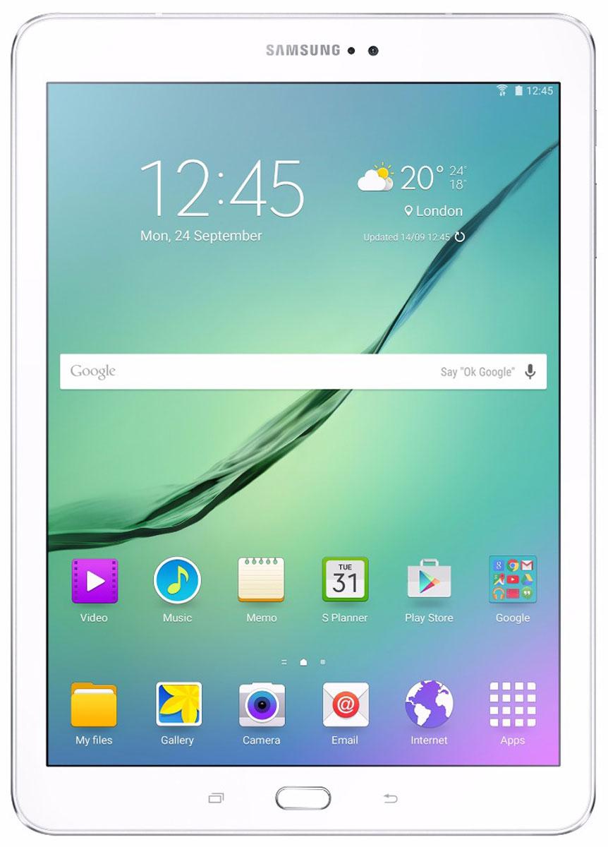 Samsung Galaxy Tab S2 9.7 SM-T819, WhiteSM-T819NZWESERПланшет Samsung Galaxy Tab S2 выполнен из цельно металлического корпуса с толщиной всего 5.6 миллиметров и по праву является самым тонким планшетом в мире. При весе всего 389 грамм и диагональю 9.7 дюймов является еще и самым лёгким в своём сегменте. Стоит отметить и форм-фактор дисплея, с соотношение сторон 4:3, с таким дисплеем гораздо комфортнее пользоваться социальными сетями и интернет браузером или просто читать книгу. Планшет Samsung Galaxy Tab S2 обладает потрясающим Super AMOLED дисплеем с разрешением 2048x1536 пикселей. Два четырёхъядерных процессора с частотой 1,4 ГГц и 1,8 ГГц Qualcomm Snapdragon 652 MSM8976. Основная камера, делает отличные фото даже при слабом освещении, благодаря 8 мегапикселям и светосилы 1.9, а фронтальная, 2.1 мегапикселя для скайпа и селфи. Для зашиты персональных данных воспользуйтесь инновационным сканером отпечатка пальцев. Или блокируйте планшет по отпечатку. Чтобы разблокировать, просто прикоснитесь с ...