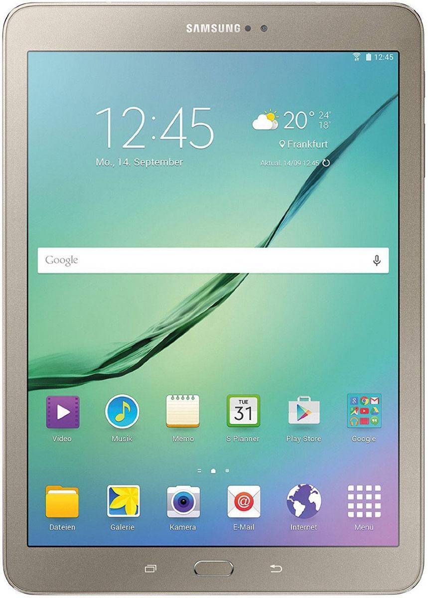 Samsung Galaxy Tab S2 8.0 SM-T719, GoldSM-T719NZDESERПланшет Samsung Galaxy Tab S2 выполнен из цельно металлического корпуса с толщиной всего 5.6 миллиметров и по праву является самым тонким планшетом в мире. При весе всего 272 грамма и диагональю 8 дюймов является еще и самым лёгким в своём сегменте. Стоит отметить и форм-фактор дисплея, с соотношение сторон 4:3, с таким дисплеем гораздо комфортнее пользоваться социальными сетями и интернет браузером или просто читать книгу. Планшет Samsung Galaxy Tab S2 обладает потрясающим Super AMOLED дисплеем с разрешением 2048x1536 пикселей. Два четырёхъядерных процессоров с чистотой 1,9 ГГц и 1,3 ГГц, 3 гигабайта оперативной памяти и 32 встроенной, которую можно увеличить картой памяти MicroSD до 128 гигабайт. Основная камера, делает отличные фото даже при слабом освещении, благодаря 8 мегапикселям и светосилы 1.9, а фронтальная, 2.1 мегапикселя для скайпа и селфи. Для зашиты персональных данных воспользуйтесь инновационным сканером отпечатка пальцев. Или блокируйте...