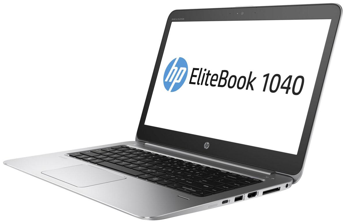 HP EliteBook Folio 1040 G3, Metallic Grey (V1B09EA)V1B09EAНоутбук HP EliteBook Folio 1040 G3 сочетает в себе стильный продуманный дизайн, непревзойденную производительность, надежность и удобные средства управления для эффективной работы. Идеальное решение для мобильной работы, которое обеспечивает максимальную надежность, высокую производительность и мощные средства работы с графикой в управляемых ИТ-средах по сравнению с другими устройствами своего класса.Легче и производительнееНоутбук HP EliteBook Folio 1040 G3 с клавиатурой HP Premium выполнен в тонком и элегантном корпусе. Он отличается высокой надежностью и соответствует стандарту MIL-STD-810G3.Полноценное рабочее местоБлагодаря аккумулятору увеличенной емкости, процессору Intel Core нового поколения, памяти объемом до 16 ГБ и твердотельному накопителю PCIe, которые увеличивают быстродействие и производительность системы, это устройство станет вашим незаменимым помощником в течение всего дня.Максимальное удобство общения и совместной работыИспользуйте модуль беспроводной глобальной сети, веб-камеру с разрешением 720p, ПО подавления шума HP Noise Reduction и аудиосистему Bang & Olufsen для удобного общения с коллегами, где бы вы ни находились.Надежность и безопасность, на которые можно положитьсяУстройство поддерживает решения Intel vPro 6 и LANDesk, которые упрощают управление устройствами и легко интегрируются в сложные ИТ-среды. Инновационное решение HP Sure Start с технологией Dynamic Protection обеспечивает защиту BIOS и позволяет сократить время простоев.Вам ничто не должно мешатьМощный ноутбук HP EliteBook Folio 1040 G3 под управлением Windows 7 Pro станет идеальным помощником в решении важных задач.Легкость подключенияНоутбук можно легко подключить к периферийным устройствам благодаря наличию всех необходимых разъемов. Для подключения мониторов и проекторов предусмотрен разъем HDMI. Благодаря двум разъемам USB 3.0 и одному разъему USB-C можно легко заряжать мобильные устройства.Пусть ваши пальцы отдохн