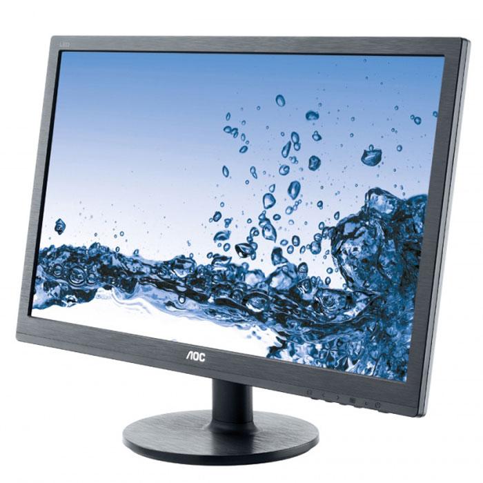 AOC E2460SD2, Black мониторe2460sd224-дюймовый дисплей монитора AOC E2460SD2 имеет разрешение Full HD для высокой детализации изображения и малое время отклика 1 мс, позволяющее работать с наиболее требовательными приложениями. Благодаря стандартным разъемам VGA и DVI-D и креплению VESA этот монитор идеально подойдет для множества рабочих мест.
