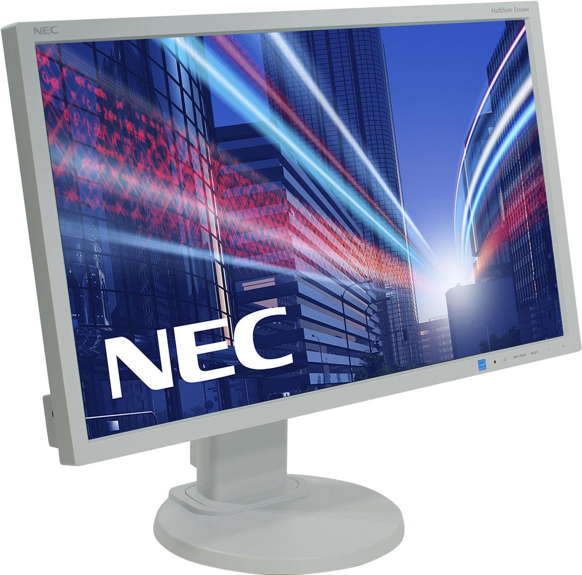 NEC E233WM, White мониторE233WMНастройка монитора NEC E233WM согласно вашим индивидуальным предпочтениям еще никогда не была такой простой, быстрой и эффективной. Высокая эргономическая гибкость, например, регулировка по высоте, изменение угла наклона и возможность поворота, а также вертикальная и горизонтальная ориентация монитора, создает более удобные и продуктивные условия для работы. Активная антибликовая поверхность экрана монитора обеспечивает удобочитаемое и приятное для глаз качество изображения, предоставляя лучшее исполнение для лучших результатов в работе, благотворные впечатления от просмотра и удовлетворенность пользователей дисплея. Благодаря сокращению энергопотребления в режиме Eco на 50 % дисплей E233WM защищает не только окружающую среду от вредного воздействия, но и ваш кошелек от лишних затрат.