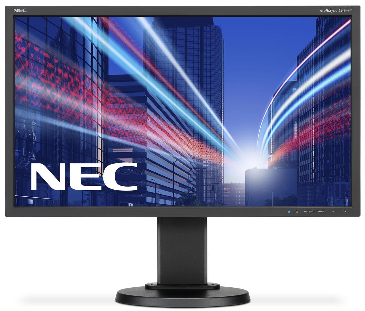 NEC E243WMi, Black мониторE243WMi-BKNEC E243WMi - это профессиональный 24 монитор с форматом 16:9, обладающий лучшей IPS-панелью и современной энергосберегающей светодиодной подсветкой. Данный монитор также обладает современными возможностями подключения с помощью DisplayPort, а также удобными эргономическими характеристиками для профессиональной эксплуатации в офисах. Благодаря низкому энергопотреблению и низким эксплуатационным расходам этот монитор является идеальным решением для эксплуатации в профессиональных офисных условиях. Отличные эргономические характеристики обеспечивают удобство в обращении и позволяют повысить производительность.