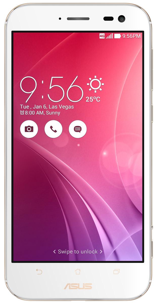 ASUS ZenFone Zoom ZX551ML, White + вспышка (90AZ00X2-M01380)90AZ00X2-M01380Asus ZenFone Zoom ZX551ML - это самый тонкий в мире смартфон с системой 3-кратного оптического увеличения. Максимальное же увеличение, доступное с его 10-элементным объективом Hoya, составляет 12 раз. ZenFone Zoom - это смартфон с классическим дизайном, выполненный в тонком (толщина от 5 мм) корпусе, основу которого составляет прочный цельнометаллический каркас. С холодным металлом контрастирует теплая кожаная отделка задней панели. Технологический процесс изготовления корпуса состоит из 201 этапа. Результатом является шедевр, с которым не хочется расставаться всю жизнь. Отличительной особенностью ZenFone Zoom является высококачественная тыловая камера с 3-кратным оптическим увеличением. В рамках технологии PixelMaster в устройстве реализовано множество функций, направленных на повышение качества фотоснимков, включая систему оптической стабилизации изображения, двухцветную вспышку Real Tone и моментальную лазерную автофокусировку, которая...