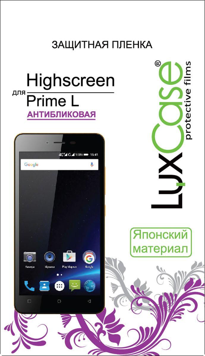 LuxCase защитная пленка для Highscreen Prime L, антибликовая51552Защитная пленка LuxCase для сохраняет экран смартфона гладким и предотвращает появление на нем царапин и потертостей. Структура пленки позволяет ей плотно удерживаться без помощи клеевых составов и выравнивать поверхность при небольших механических воздействиях. Пленка практически незаметна на экране смартфона и сохраняет все характеристики цветопередачи и чувствительности сенсора.