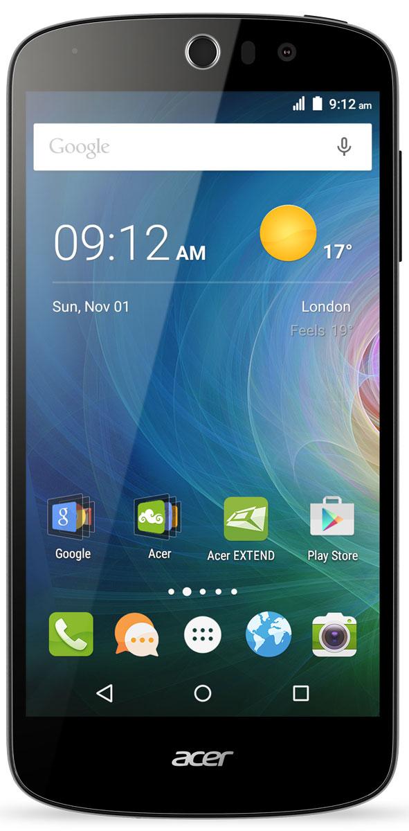 Acer Liquid Z530 16GB, BlackHM.HQUEU.002Смартфон Liquid Z530 с помощью встроенных в камеру функций создает яркие и красочные фотографии. Благодаря технологиям IPS, Acer Lumiflex и конструкции Zero Air Gap экран с естественной цветопередачей, насыщенностью и контрастом вы получите яркие фотографии и поделитесь ими с друзьями. Камера смартфона Liquid Z530 с углом съемки 84 градуса, разрешением 8 Мпикс и дополнительными режимами съемки позволит создавать потрясающие сэлфи в кругу друзей или на фоне панорамы. Смартфон Liquid Z530 поддерживает жесты быстрого доступа, которые позволяют управлять некоторыми функциями, просто проведя пальцем по экрану. Например, открывается доступ к голосовому вызову, камерам, проигрывателю, а также элементам управления проигрывателем. Несколько касаний и все это у вас под рукой. Телефон сертифицирован EAC и имеет русифицированный интерфейс меню и Руководство пользователя.