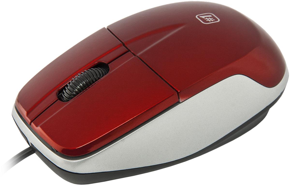 Defender №1 MS-940, Red проводная оптическая мышь