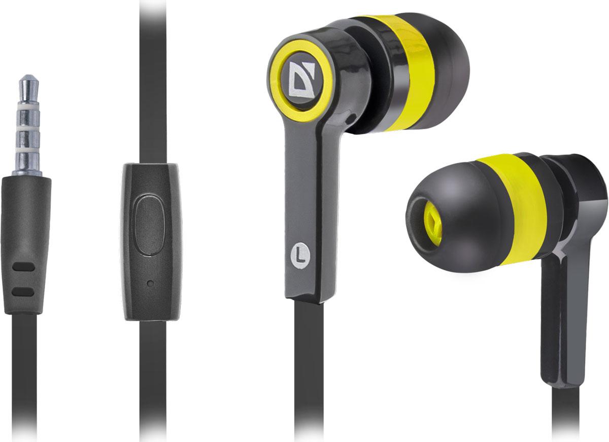 Defender Pulse 420, Black Yellow гарнитура63421Defender Pulse 420 - отличный выбор для повседневного использования, в том числе, в общественном транспорте, на улице и в шумных помещениях, благодаря хорошей шумоизоляции. Гарнитура имеет встроенный пульт и микрофон для быстрого переключения между музыкой и вызовами. Подключив её к своему смартфону или планшету вы сможете не только наслаждаться любимой музыкой, но и с легкостью ответить на звонок, не доставая гаджет. Плоский кабель устойчив к запутыванию.