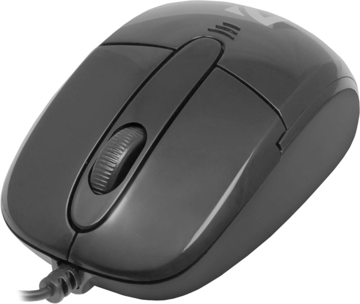 Defender Optimum MS-130, Black проводная оптическая мышь52130Мышь Defender Datum MB-060 легко взять с собой. Устройство может работать практически на любой поверхности. Оптический сенсор обеспечивает максимально точное позиционирование курсора. Тонкий и гибкий кабель отличается прочностью и надежностью, а его длина оптимальна для ноутбука. Благодаря симметричной форме эта мышка подходит как правшам, так и левшам.