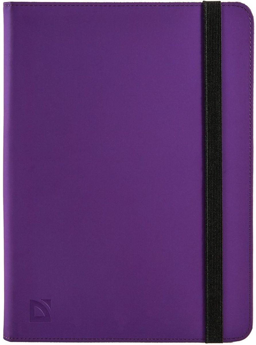 Defender Booky uni 10.1, Purple чехол для планшета26053Чехол Defender Defender Booky uni 10.1 открывается как книжка и оснащен внутренним карманом для необходимых мелочей. Резиновые уголки надежно удерживают ваше устройство на месте, а мягкая внутренняя подкладка защищает от повреждений, ударов и царапин. Широкий эластичный ремешок надёжно закрывает чехол.