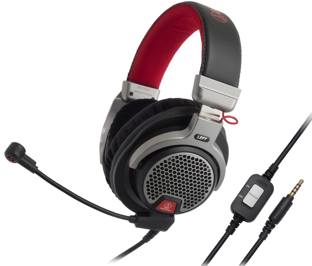 Audio-Technica ATH-PDG1 игровые наушники15118121Audio-Technica ATH-PDG1 – домашняя гарнитура премиум-класса открытого типа, предназначенная для компьютерных игр, телефонии и прослушивания музыки. Данная модель разработана специально для матёрых геймеров, которые ценят натуралистичный звук и естественные ощущения. Большие 40-мм динамики со звуковыми катушками CCAW специально настроены на воспроизведение всех живых деталей звука, которые могут предложить сегодняшние игры. Лёгкий, ячеистый алюминиевый корпус наушников даёт естественный, объёмный звук и сохраняет комфорт даже при самом интенсивном ведении огня в играх благодаря мягким кожаным амбушюрам. Модель имеет съёмный кабель, в комплекте идут три шнура, в том числе два с микрофонами: для смартфонов и для игр. Игровой микрофон обеспечивает кристально чистую голосовую связь с другими геймерами в игре, а пульт управления позволяет регулировать громкость. Невероятно живой звук Открытое акустическое оформление Лёгкая конструкция, удобное...