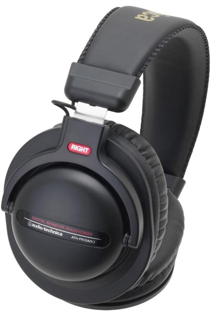 Audio-Technica ATH-PRO5MK3, Black наушники15118117Audio-Technica ATH-PRO5MK3 – это профессиональные мониторные наушники с отличными аудиохарактеристиками. Они представляют удачное сочетание современных технологий и высококачественных материалов для исключительной четкости звука с богатыми басами. Модель имеет съёмный кабель, в комплекте идёт прочный витой шнур для студийного использования, а также кабель с пультом управления и микрофоном для использования со смартфонами. Поворотные чашки позволяют производить мониторинг одним ухом, мягкое регулируемое оголовье обеспечивает максимальный комфорт при ношении, а мониторные амбушюры отличаются превосходной шумоизоляцией. 44-мм драйверы обеспечивают точное воспроизведение звука для DJ-монторинга Мощный звук за счёт большой магнитной силы Возможность мониторинга одним ухом