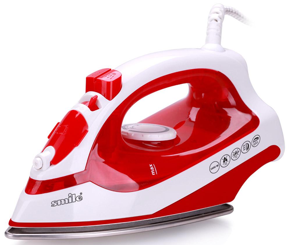 Smile SI 973 , White Red утюгSI 973Утюг Smile SI 973 - это современный и необходимый для каждой хозяйки прибор. Мощность модели довольно высока и составляет 1600 Вт, что обеспечивает высокую эффективность и скорость работы. Тефлоновая подошва легко скользит по поверхности любого вида ткани.