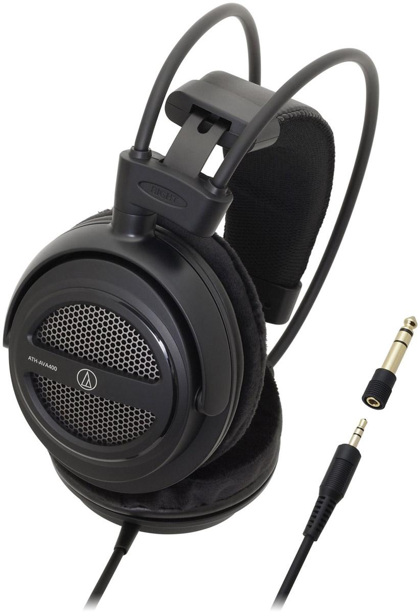Audio-Technica ATH-AVA400 наушники15118255ATH-AVA400 – это мониторные наушники с открытым акустическим оформлением и двойным саморегулирующимся оголовьем. Модель прекрасно подходит для домашнего прослушивания аудио- и видеосистем, обеспечивая высококлассное звучание на всём диапазоне частот.40-мм драйверы и звуковая CCAW-катушка обеспечивают насыщенный и детализированный звукОткрытый алюминиевый корпусСаморегулирующееся двойное оголовье и мягкие амбушюры обеспечивают комфортную посадку