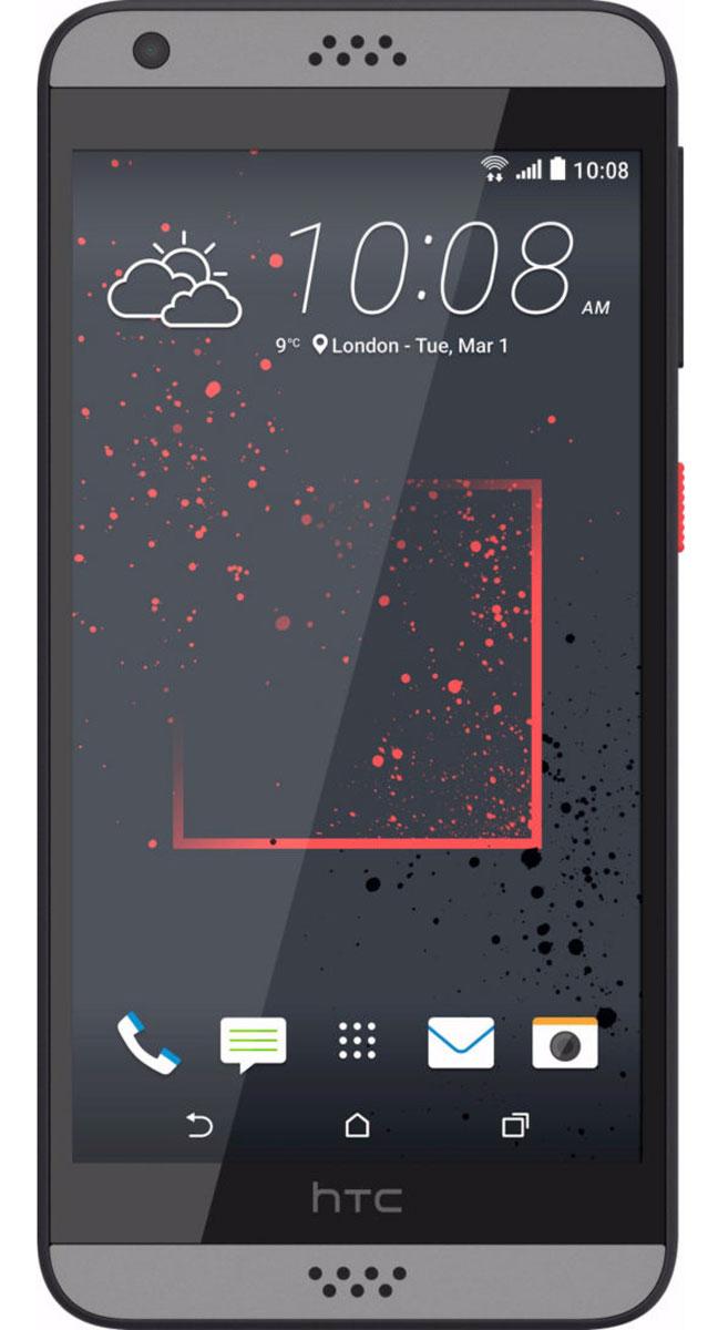 HTC Desire 630 DS, Dark Grey99HAJM006-00Представляем HTC Desire 630 dual sim. Смартфон, который заметят окружающие: эффектные цветовые решения корпуса, внушительные аудио характеристики и отличные фронтальная и основная камеры. Корпус устройства, выполненный из материала soft-touch, ребристая кнопка включения, крепление для ремешка на руку делают изделие исключительно удобным в использовании. Наличие двух SIM-карт позволит разделить рабочие и личные звонки. Выпускные балы, решающие голы, яркие эмоции на аттракционах - нередко бывает тяжело поймать тот самый незабываемый кадр. С HTC Desire 630 dual sim снимать легко и просто: все технические задачи решены, и тебе остается просто нажать кнопку спуска. Основная камера 13Мпикс поможет снимать отличные фото и видео. При необходимости фото можно отредактировать во встроенном Фоторедакторе, а также при желании добавить фотоэффекты - например, применить Двойную экспозицию. С HTC Desire 630 dual sim ты не упустишь ни один...