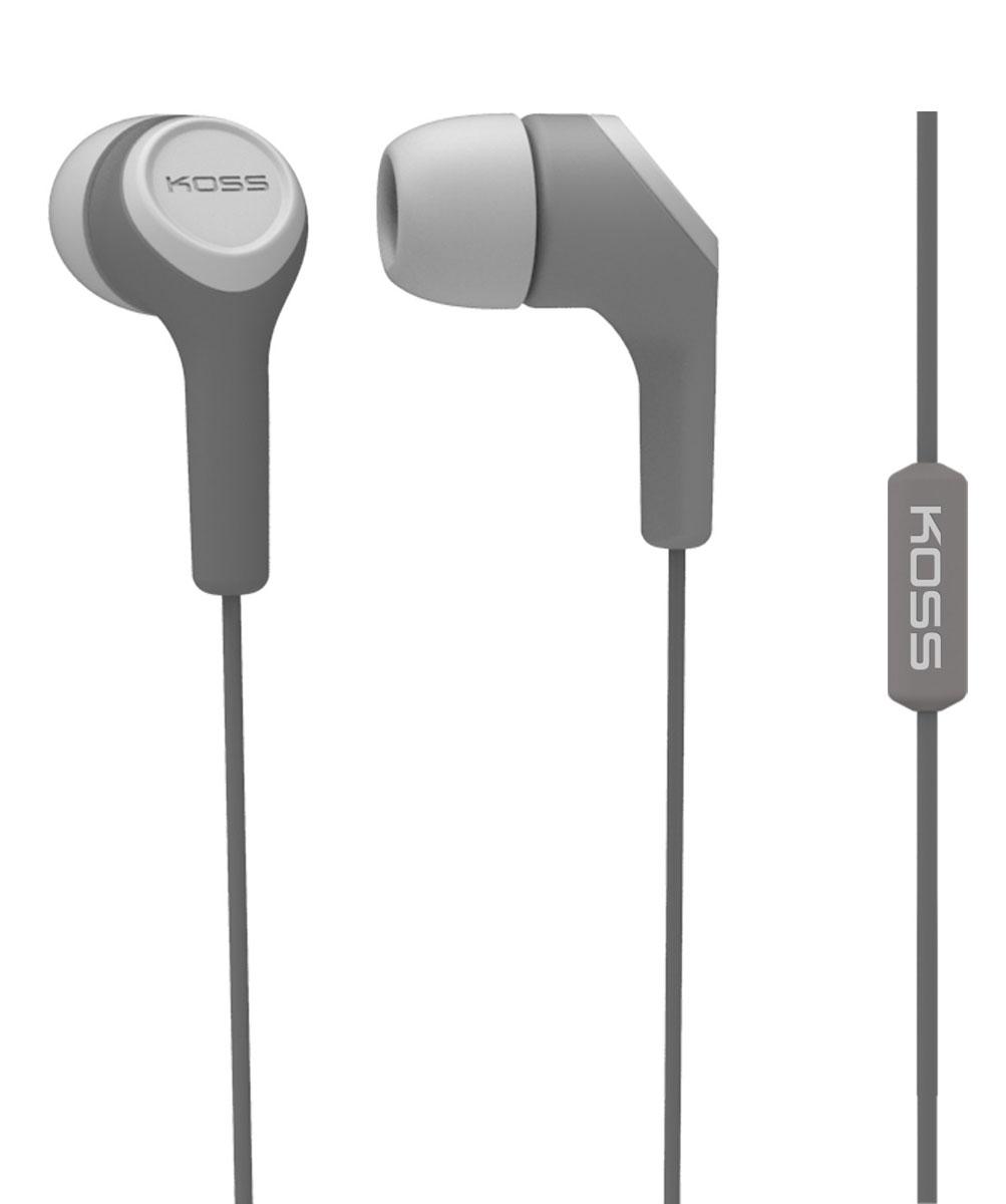 Koss KEB15i, Grey наушники10102303Koss KEB15i - портативные наушники-вставки с функцией гарнитуры, разработанные на базе известной модели KEB15. Модель сочетает в себе стильный дизайн и легендарное качество Koss. Звукоизолирующие силиконовые амбушюры, расположенные под углом к чашкам, обеспечивают высокий уровень звукоизоляции и максимально комфортное прилегание к ушному каналу. Конструкция штекера с полужёстким сочленением увеличивает срок жизни шнура, оберегая его от повреждений. Максимум комфорта, стильный дизайн, большой выбор цветов Удобный штекер с углом 135 градусов Три вида амбушюр в комплекте