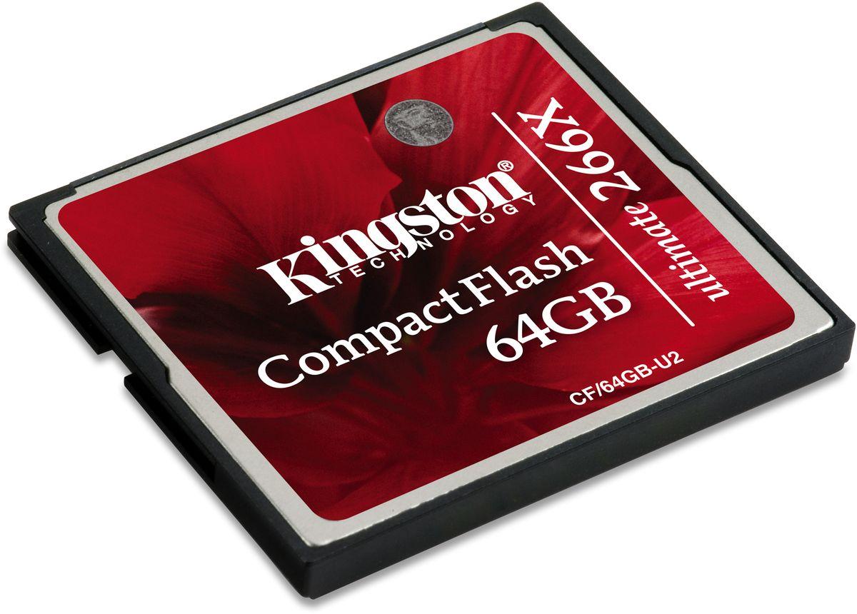 Kingston Compact Flash Ultimate 266x 64GB карта памятиCF/64GB-U2Compact Flash Kingston Ultimate, 266x позволит вам снимать больше, с более высоким разрешением и за меньшее время.Карты памяти CompactFlash Kingston стали одними из самых быстрых в отрасли. Высокая скорость передачи идеально подходит для современных устройств, таких как цифровые камеры с высокимразрешением; они обеспечивают быстрое сохранение фотографий и быструю готовность камеры к новым снимкам.