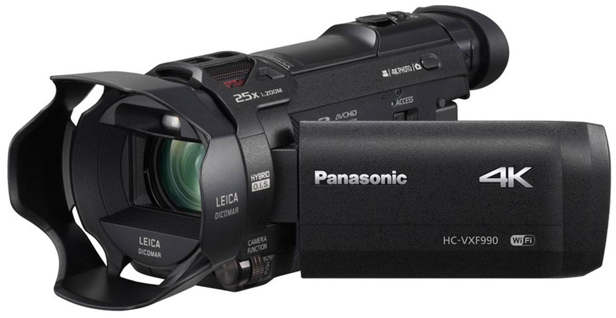 Panasonic HC-VXF990, Black 4K видеокамераHC-VXF990EEKЗапечатлейте всю красоту природы с помощью компактной видеокамеры Panasonic HC-VXF990 и ошеломляющего разрешения 4К. Создана для съемки впечатляющих кадров решающих моментов жизни с разрешением 4К и съемки видео профессионального качества. Сделать это теперь стало проще, чем когда-либо, благодаря высокоскоростному и высокоточному автофокусу - реальному прорыву к профессиональной 4К-съемке для всех, которого добилась компания Panasonic. Подходит и для энтузиастов, и для профессионалов Снимайте в любых условиях и получайте необходимый вам качественный результат. Электронный видоискатель (EVF) позволите легкостью снимать при ярком дневном сеете, помогая сохранить правильное восприятие. Механизм сдвига и наклона обеспечит гибкость для съемки из различных положений, а съемный наглазник делает процесс съемки удобным для любого глаза. Объектив с просветленной оптикой Помимо передачи четких изображений, этот замечательный объектив LEICA Dicomar отражает...