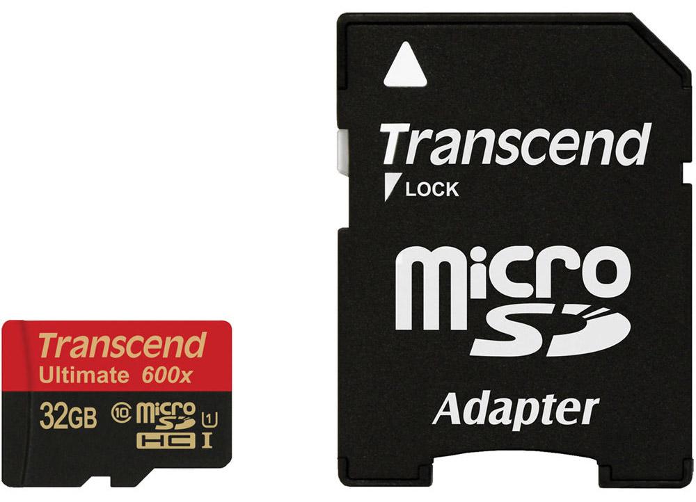 Transcend Ultimate microSDHC Class 10 UHS-I 600x 32GB карта памятиTS32GUSDHC10U1Карта памяти Transcend Ultimate microSDHC Class 10 с поддержкой спецификации Ultra High Speed Class 1 создана специально, чтобы улучшить качество работы со смартфонами и планшетами. Карта памяти использует технологию последнего поколения и гарантирует максимально возможный уровень производительности при работе активно задействующих память мобильных приложений и игр, а также обеспечивает плавную запись и воспроизведение видео в разрешении Full HD. Надежность и производительность MLC флэш-памяти Идеальный апгрейд для смартфонов, планшетов и цифровых камер Совместимость с Class 10 Встроенная технология ECC для обнаружения и исправления ошибок при передаче данных Эксклюзивная программа RecoveRx для восстановления удаленных и утраченных данных с портативных носителей